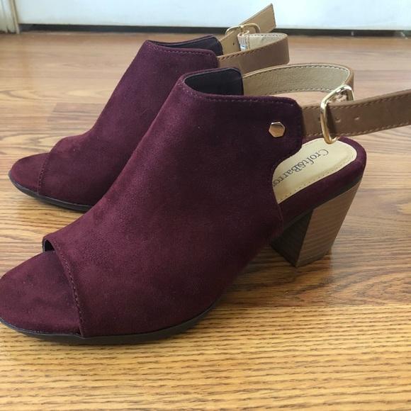 db317be5f8c Croft and Barrow Burgundy Sandal Heel Shoe